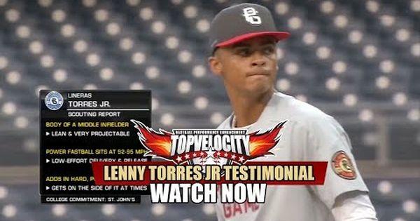 Lenny Torres Jr 81 97mph 3x Pitching Velocity Program Baseball Pitching Junior Velocity