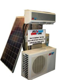 World S First Dc Powered Ductless Mini Split Air Conditioner Unveiled By Solar Panels Plus Emergercy Prep Solar Air Conditioner Solar Panels Solar Power