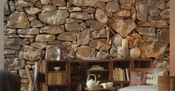 brewster home fashions komar stone wall mural apartment