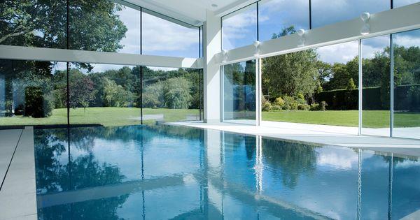 Indoor pool keller  Stunning indoor Pool in The UK by Keller Minimal Windows | Dream ...