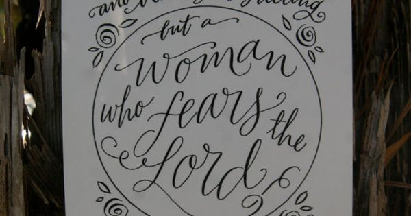 Hand-Lettered Scripture Print - Proverbs 31:30 - Bella Scriptura Collection from Paperglaze