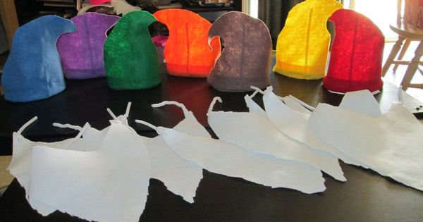 Gnome Hat Set Of 7 For 20 00 Via Etsy Birthday Forest Woodlands Pinterest Snow White
