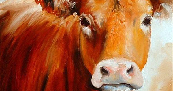 Cow painting art pinterest girls kuh und for Leinwandbilder selber machen