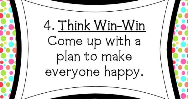 think win win activities think win win think win win school pinterest activities school. Black Bedroom Furniture Sets. Home Design Ideas