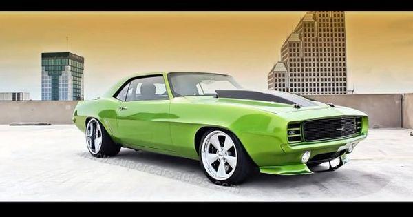 1969 Chevrolet Camaro Alien Green 606 Monster Chevrolet Camaro