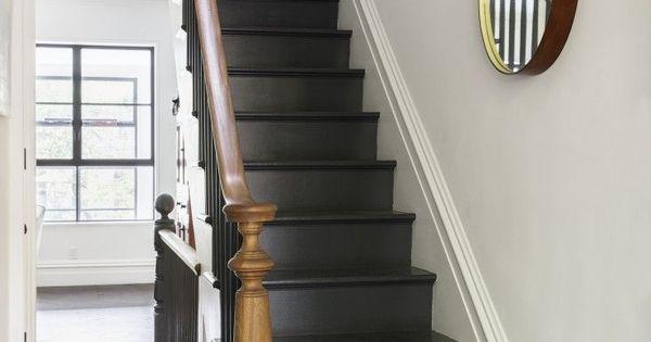 Inspiration archives mon atelier d co deco entr e pinterest cage d 39 escalier noire - Montee trap ...
