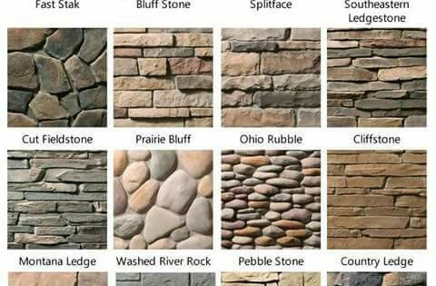 Tipos de piedra laja y ladrillo fachada pinterest for Tipos de piedras para paredes interiores