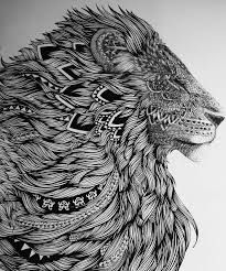 Bildergebnis Fur Lowe Zeichnung Bleistift Zentangle Kunst Kunstproduktion Inspirierende Kunst