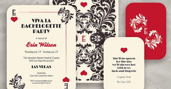 Las Vegas Bachelorette Party Invite Round Corners by ModernSouth, $47.50 ...could build