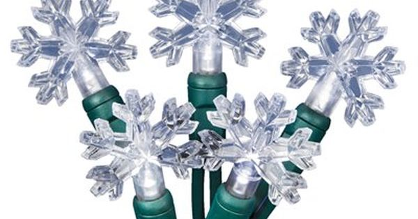 Holiday Living 35-Count 11.33-ft Constant White Snowflake Led Plug-in Christmas String Lights ...