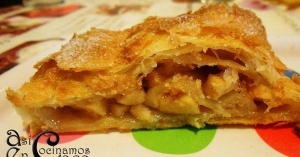 Receta de hojaldre relleno de manzana de acec postres - Reposteria facil y rapida ...