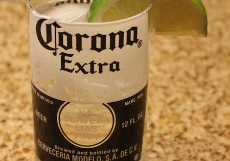 DIY Corona Glasses - Made using cutting glass bottles