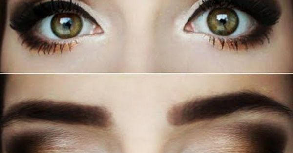A warm chocolate smokey eye look, perfect fall makeup. Great for green