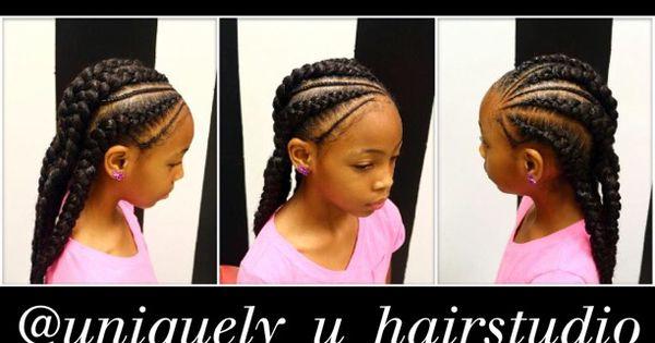 Jumbo braids goddess braids Kids braided hairstyles - Braided Hairstyles For Kids