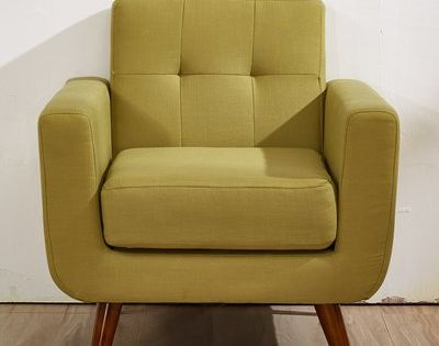 Langley Street Lester Upholstered Armchair Upholstery Olive Green Lounge Chair Furniture Upholstered Arm Chair