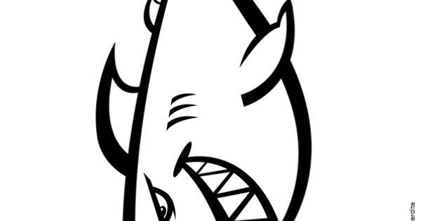 dessin colorier d un requin stylis coloriages de. Black Bedroom Furniture Sets. Home Design Ideas