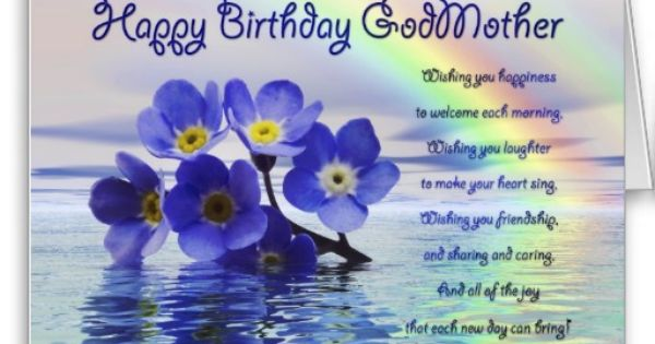 Birthday Wishes For Godmother Nicewishes Com: Birthday Card For Godmother With Forget Me Nots