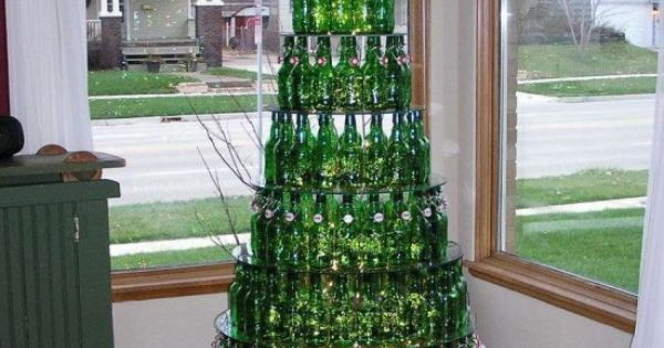 Redneck christmas tree - ha!