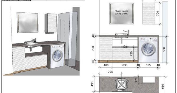 Int grer la fois le panier linge et la machine laver - Integrer machine a laver dans salle de bain ...