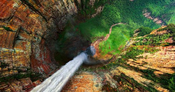 The view down Dragon Falls, Venezuela; this photo gives me vertigo!