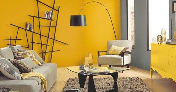 Colores de pinturas para paredes de salon gris y amarillo for Colores de pintura para salones