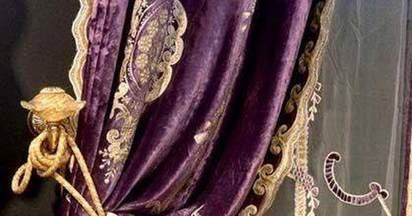 Antique Velvet And Lace Curtains That Deep Violet
