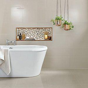 148658 Wickes Infinity Ivory Porcelain Tile 600 X 300mm Bathroom Flooring Ivory Porcelain Tiles Bathroom Wall Tile