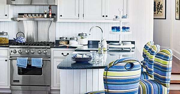 Accessorize Your Kitchen | Go Bold | CoastalLiving.com All white kitchen with