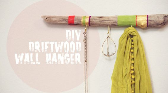 DIY driftwood wall hooks
