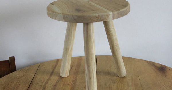 Small Round Stool Low Bedside Table Wooden By