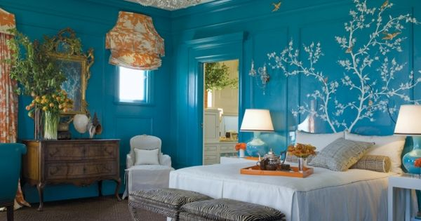 Blue Bedroom Wall Color Decorations