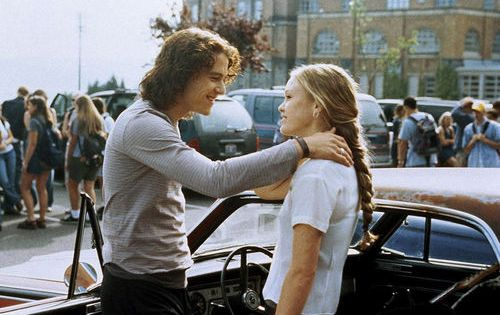 10 Things I Hate About You - Julia Stiles and Heath Ledger