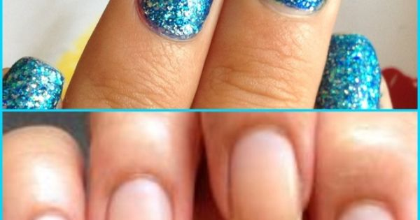 How to Easily Remove Glitter Nail Polish! I love glittery nails but