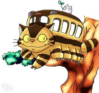 となりのトトロ ネコバス 木 小トトロ ミニキャラ ちびキャラ イラスト トトロ ネコバス ネコバス イラスト