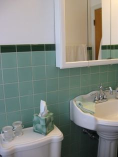 seafoam green tile bathroom google