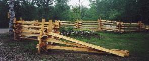 Northern White Cedar Split Rail Fence At Garden Center Backyard