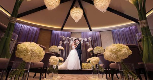 The wedding chapel at aria in las vegas opened in 2013 for Aria wedding chapel