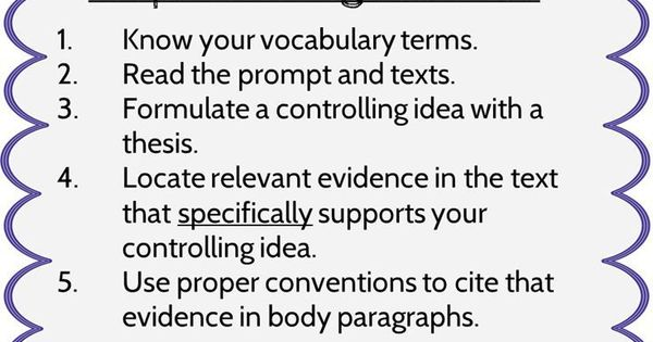 argument essay guidelines