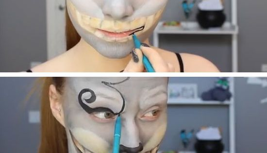 Cheshire Cat Makeup Tutorial | Click Pic for 22 Easy DIY Halloween