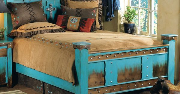 Details About Western Outlaw Bed Frame Country Rustic Cabin Log Wood Bedroom Furniture Decor