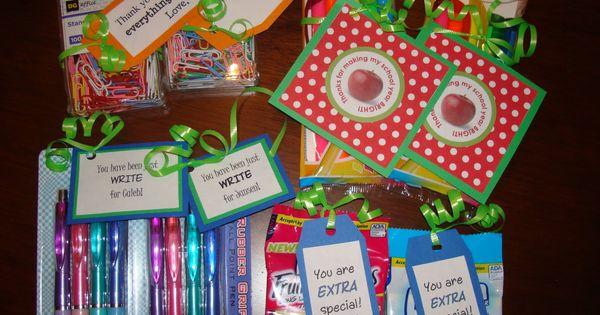 Cute ideas for teacher gifts... ideas for teacher appreciation week!