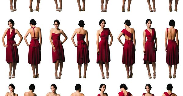Convertible Bridesmaid Dress. One dress: 12 different ways to wear it. Butter