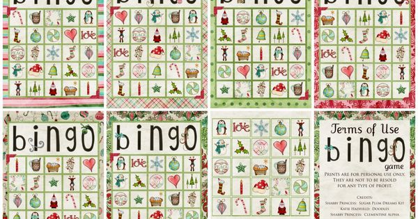 Christmas Bingo- maybe for our Christmas party?