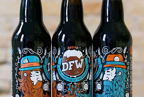 Illustrations for DFW, a collaboration between Lakewood Brewery and Rahr & Sons