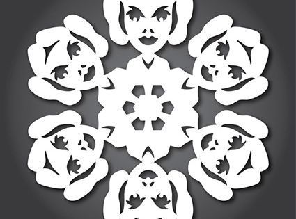 Star Wars Snowflake Templates. Print them out and create a Star Wars