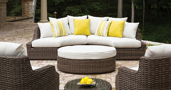 Pin By Joan Moriarty On Outdoor Upper Patio Outdoor Furniture Curved Sectional Teak Patio Furniture