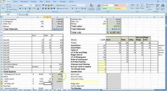Cost Estimating Sheet With Excel For The General Contractor Estimate Template General Contractor Cost Sheet