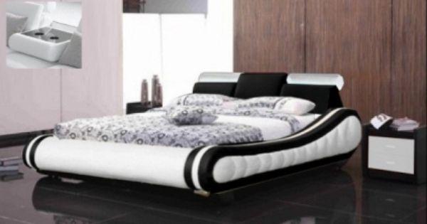 Lit cuir design brunch chez lit design pinterest - Wit bed capitonne ...