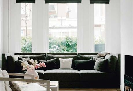 Black and white living room interiors