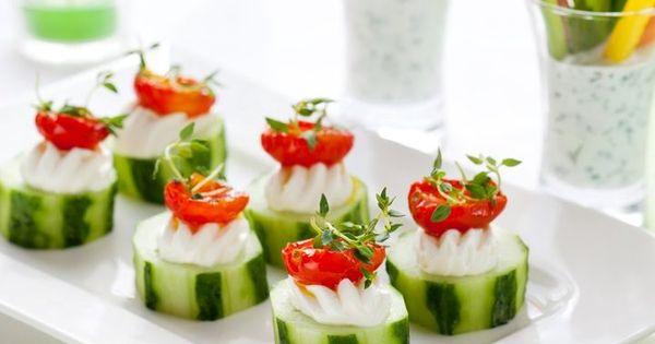 Concombre fromage frais et tomate cerise l 39 ap ro entre amis pinterest for Canape aperitif marmiton
